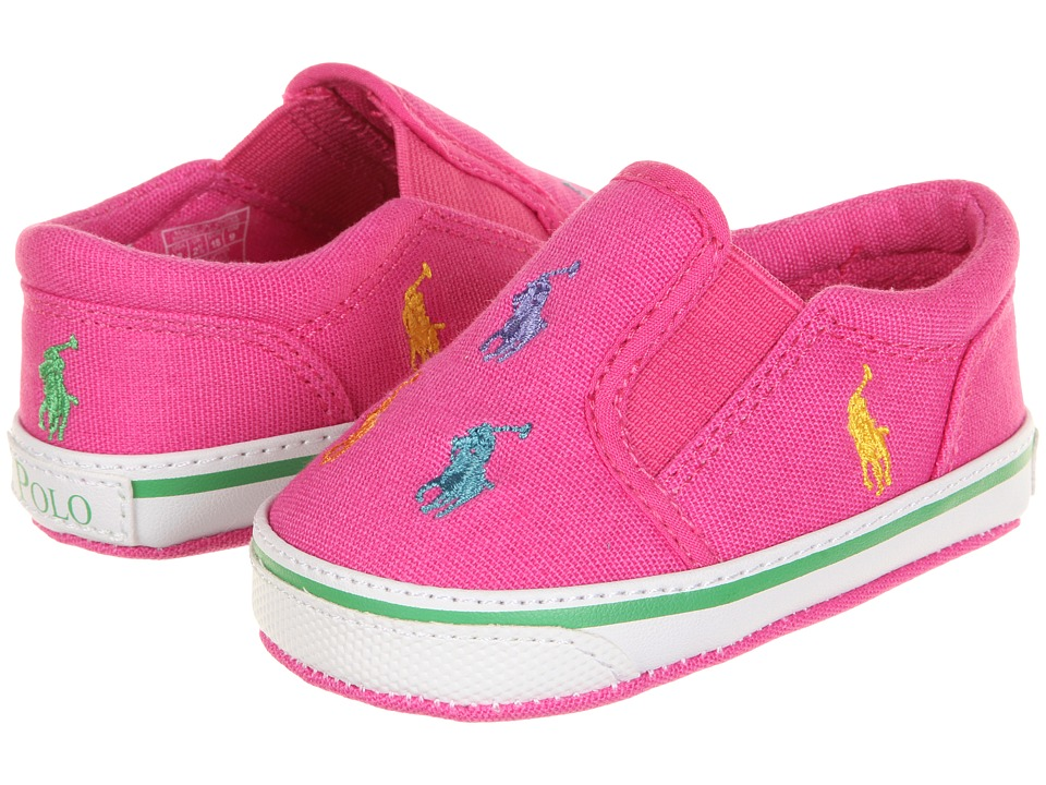 Ralph Lauren Layette Kids Bal Harbour Repeat Infant/Toddler Belmont Pink/Multi Canvas Girls Shoes