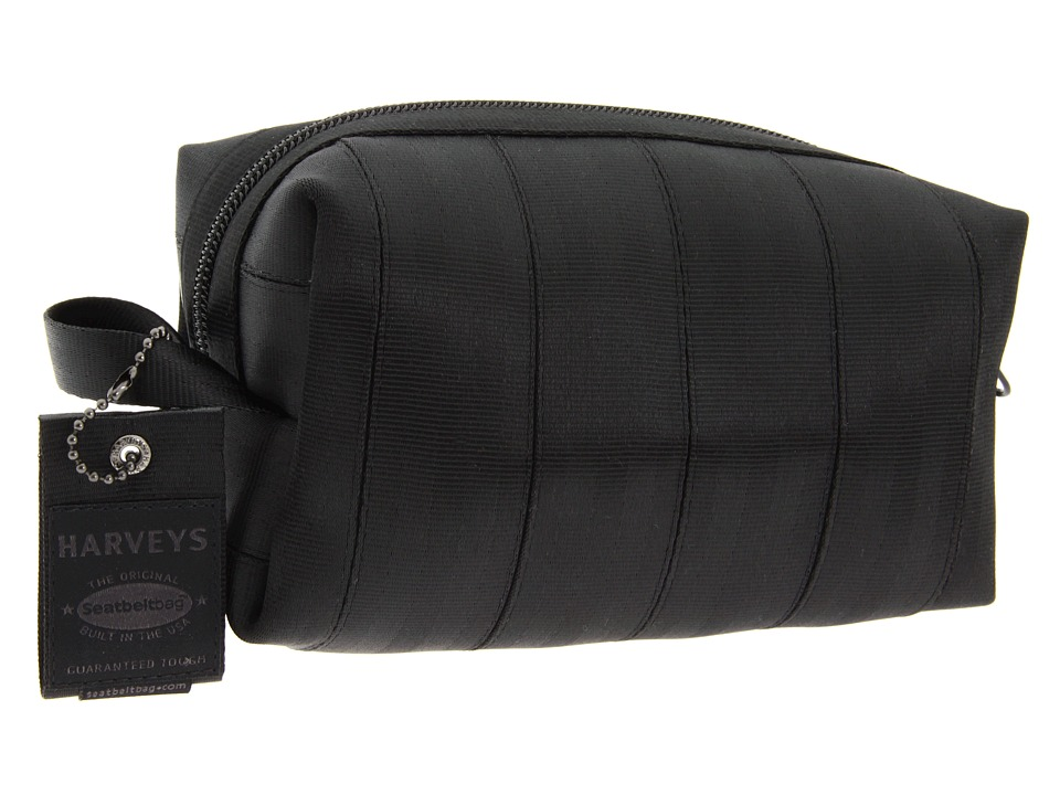 Harveys Seatbelt Bag - Black Label Dopp Kit (Black) Handbags