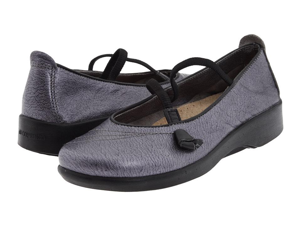 Arcopedico Vitoria (Pewter/Black/Metal Crush/Nappa Wax) Maryjane Shoes