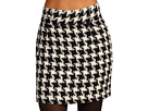 Fred Perry Amy Winehouse Collection High Waisted Houndstooth Pencil Skirt Black