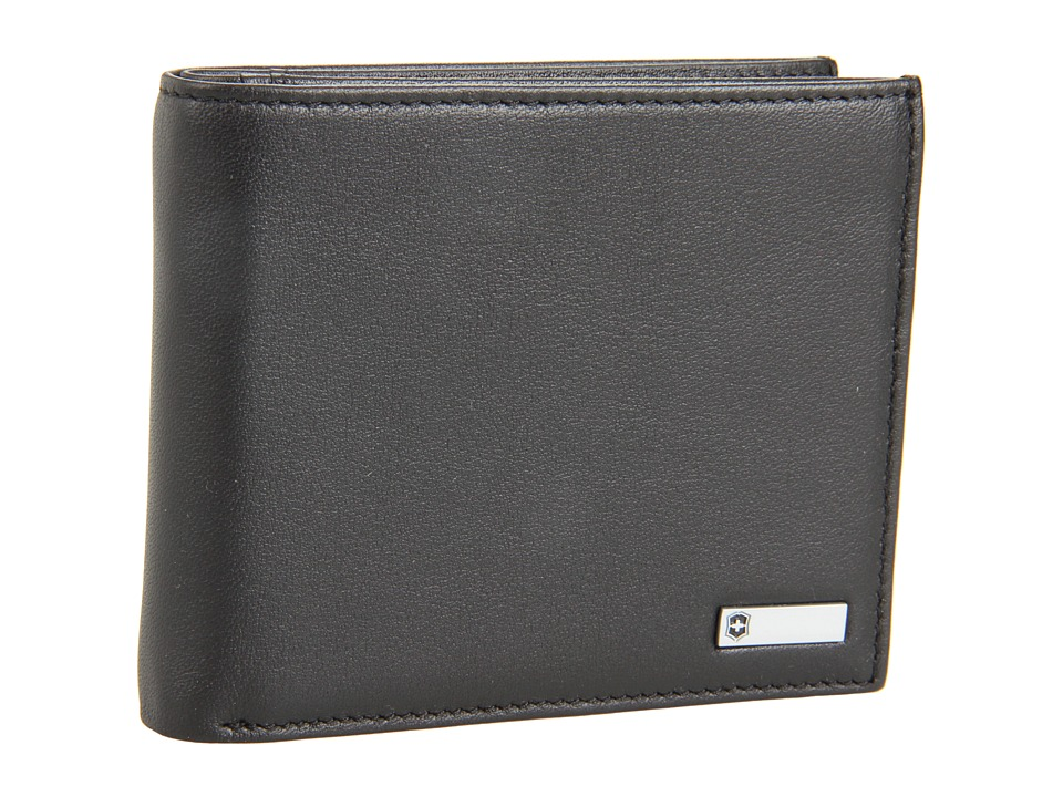 Victorinox - Altiustm 3.0 - Amsterdam Leather Bi-fold Wallet With Passcase (Black Leather) Wallet