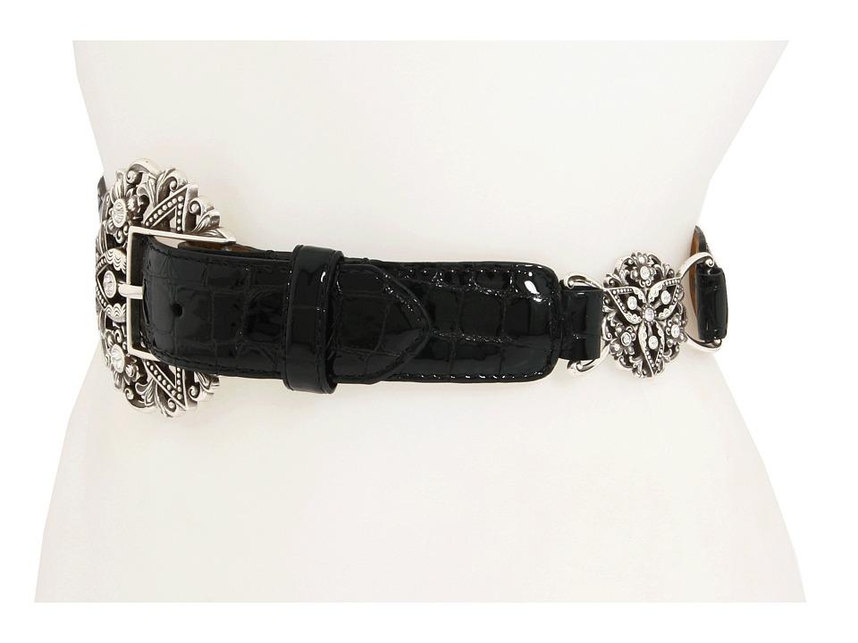 Brighton - Empire Lace Stretch Belt (Black) Womens Belts