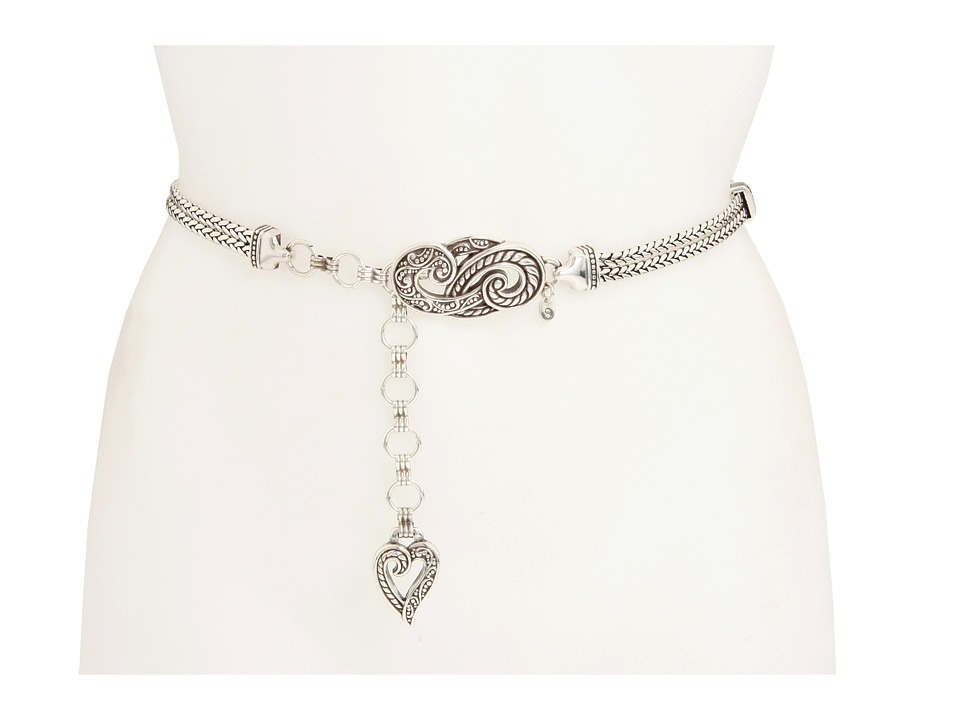 Brighton - Bali Hai Chain Belt (Silver) Womens Belts