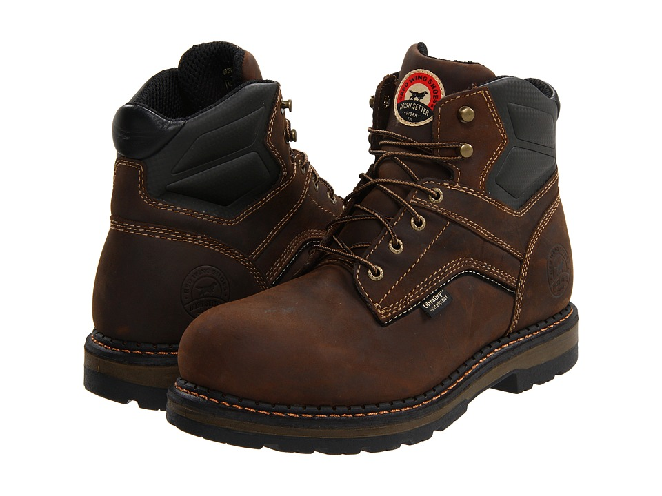 Irish Setter 83600 6 Aluminum Toe Brown Mens Work Boots