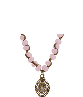 Lucky Brand - Long Pink Bead Pendant Necklace