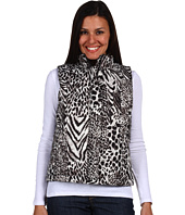 Jones New York - Animal Print Mock Neck Quilted Vest