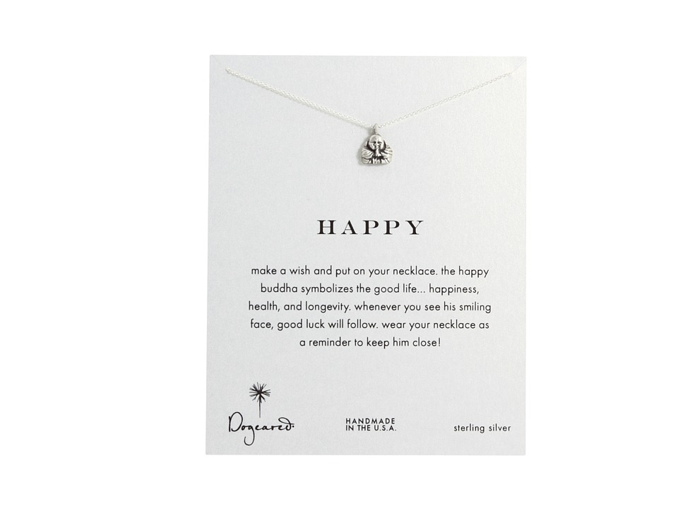 Dogeared Happy Buddha Reminder Sterling Silver Necklace