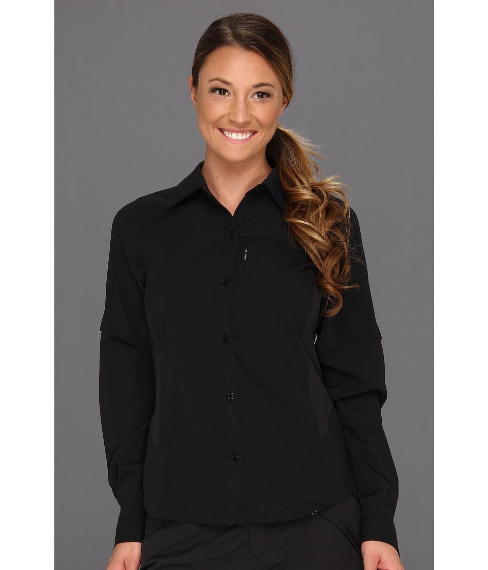 Columbia - Silver Ridgetm L/S Shirt (Black) Womens Long Sleeve Button Up
