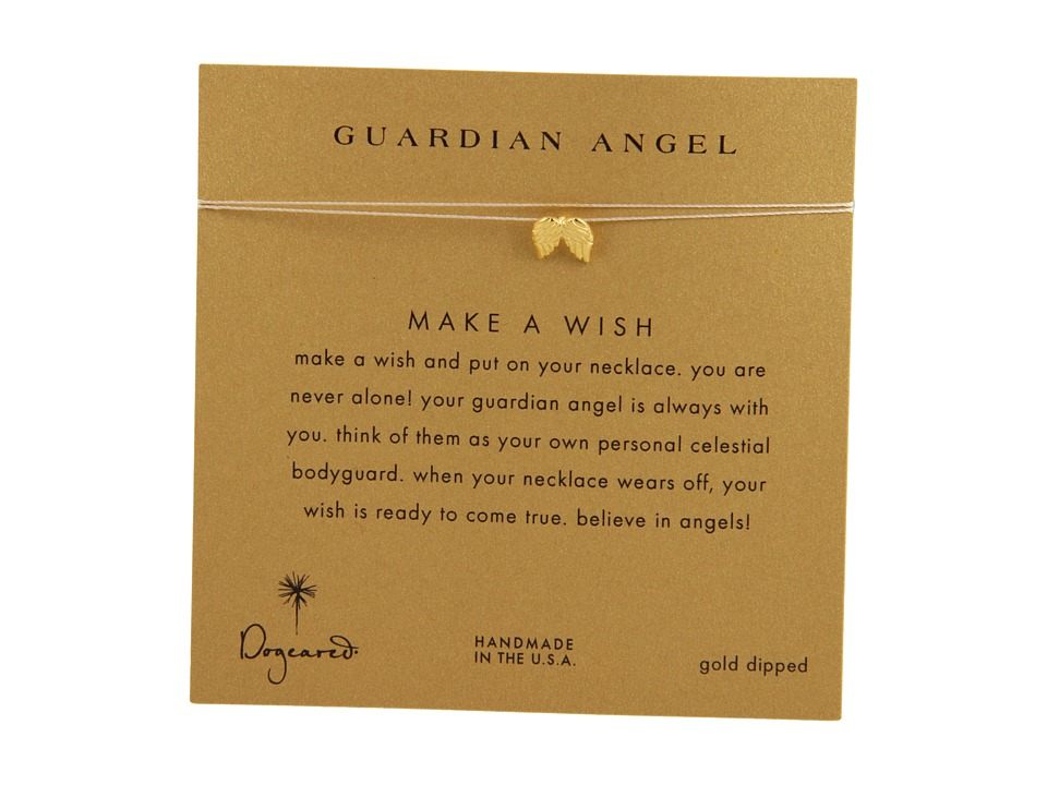 Dogeared Make A Wish Guardian Angel Necklace Cream/Gold Necklace