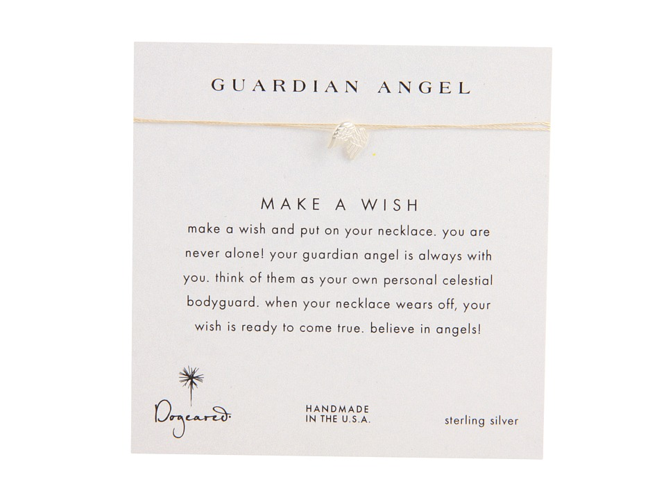 Dogeared Make A Wish Guardian Angel Necklace Cream/Silver Necklace
