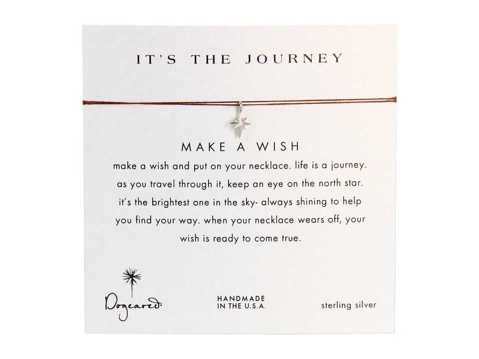 Dogeared Make A Wish Its The Journey Necklace Tobacco/Silver Necklace