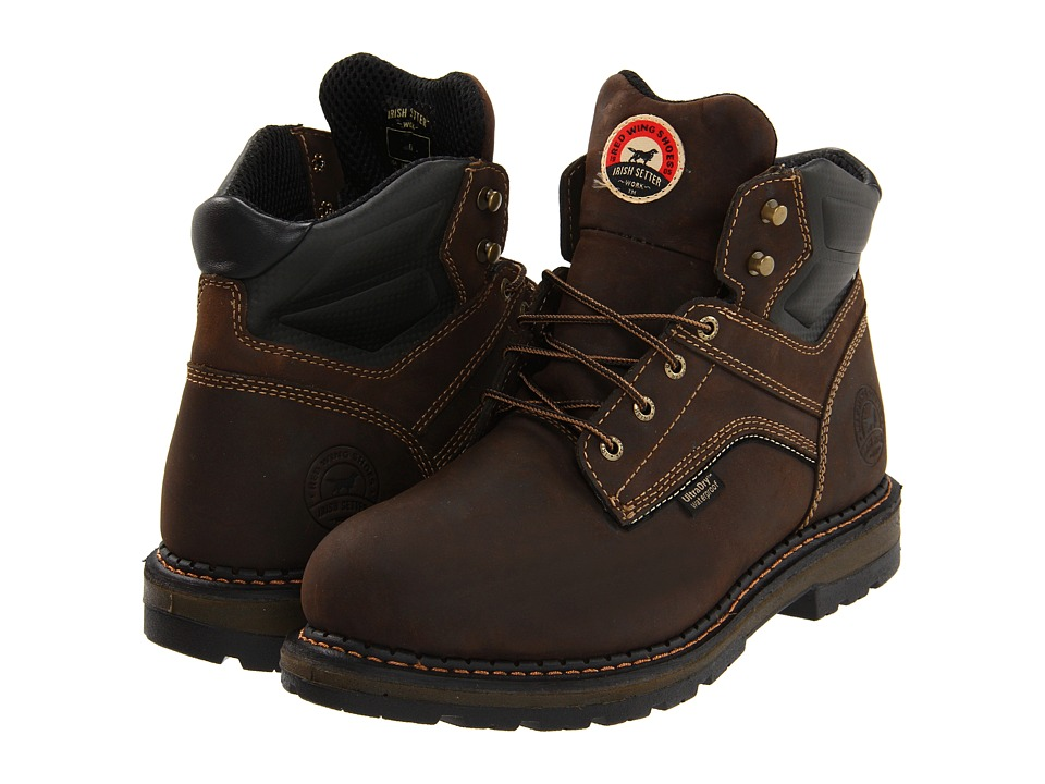 Irish Setter 83601 6 Waterproof Brown Mens Work Boots