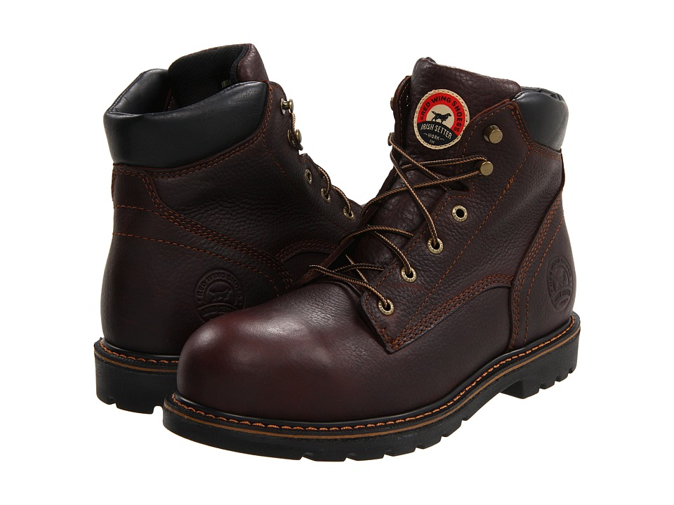 Irish Setter 83604 6 Aluminum Toe Brown Mens Work Boots