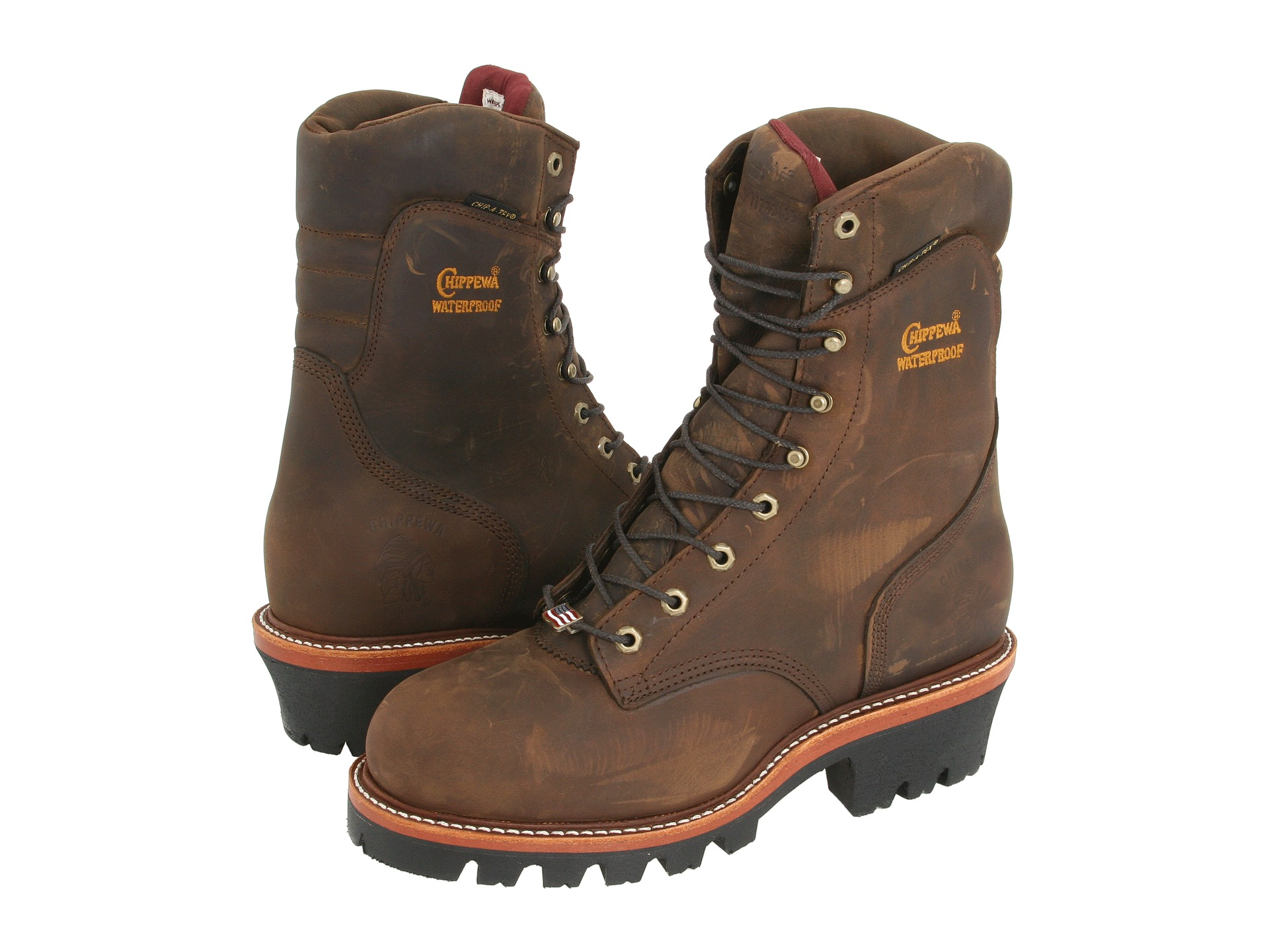 chippewa 9 quot waterproof insulated logger zappos