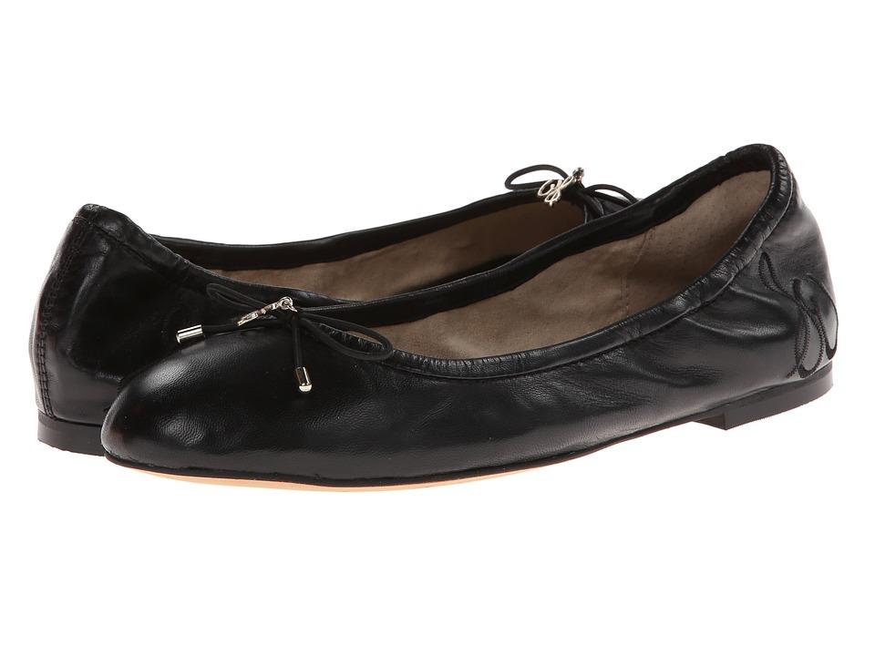 Sam Edelman Felicia Black Leather Womens Flat Shoes