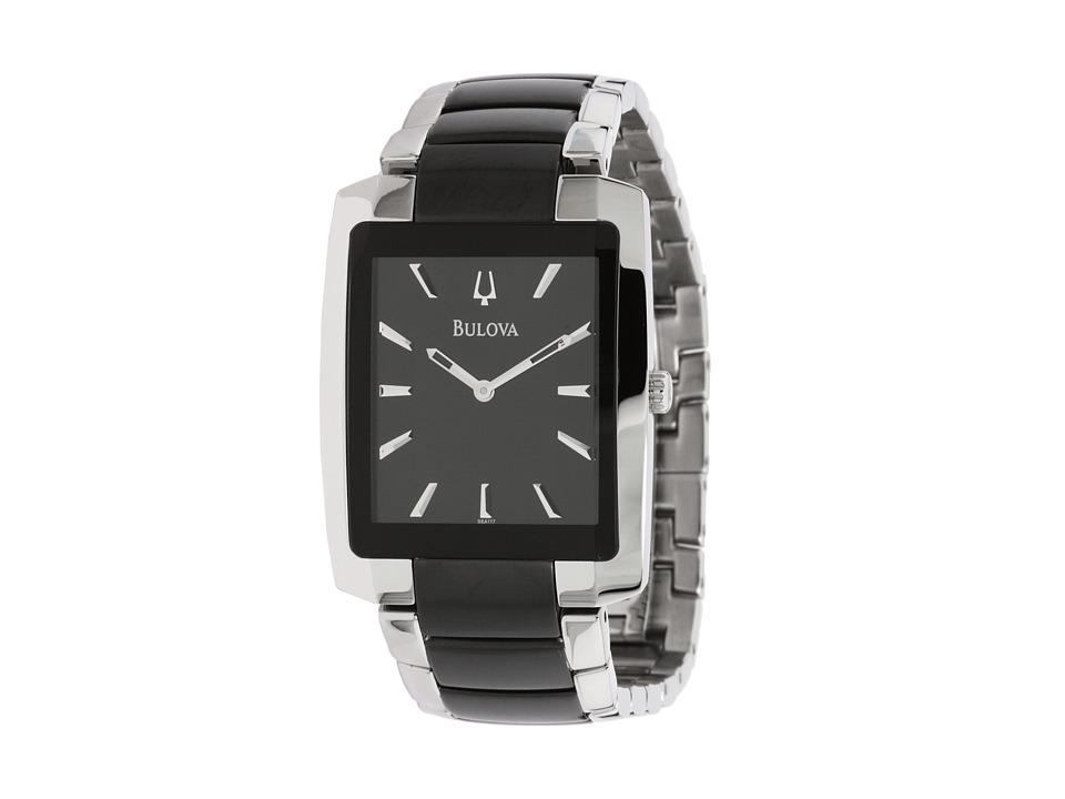 BULOVA Men's Dress - 98A117 (Black/Stainless) Watches
