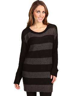 DKNY Jeans Missy Colorblock Stripe Sequin Tunic at Zappos.com :  woman ribbed cuffs jean long sleeves