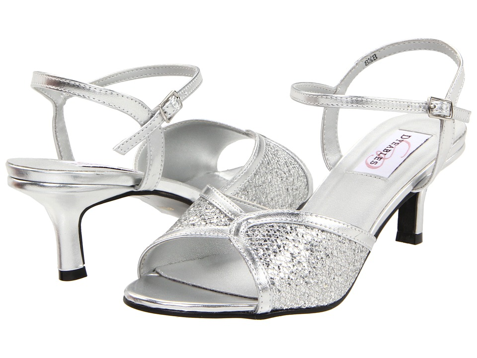 Vintage Style Wedding Shoes, Boots, Flats, Heels Touch Ups - Dre Silver Womens Bridal Shoes $52.00 AT vintagedancer.com