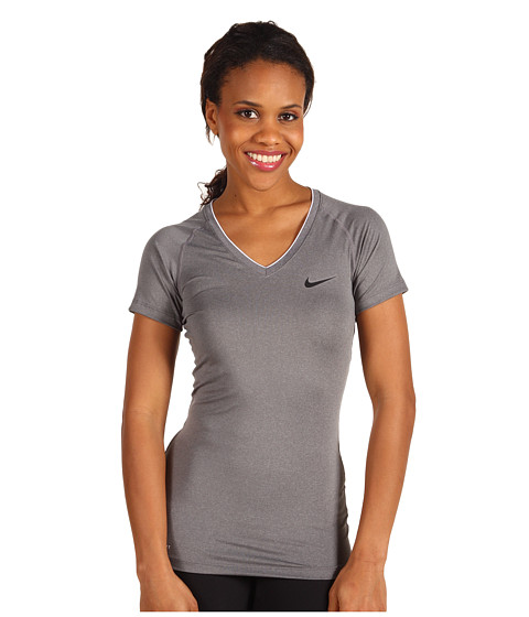 Cheap Nike Pro Core Ii Fitted Shirt Carbonheather Black