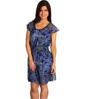 DKNY Jeans Petite - Petite Midnight Garden Printed Dress