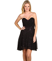 Badgley Mischka - Sequin Strapless Mini Dress