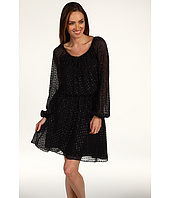 Halston Heritage - Long Sleeve Peasant Dress With Smocking