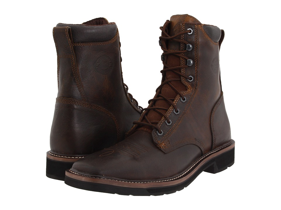 Justin - Pulley 8 (Rugged Tan) Mens Work Boots