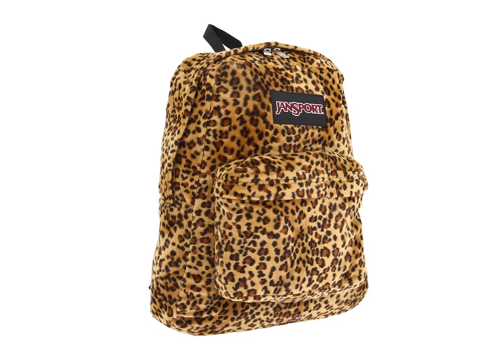 JanSport High Stakes Caramel Leopard Backpack Bags