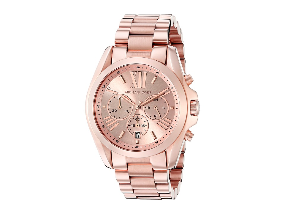 Michael Kors - MK5503 - Bradshaw Chronograph (Rose Gold IP) Watches