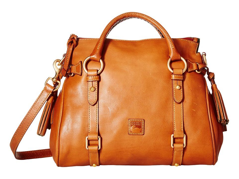 Dooney amp Bourke Florentine Small Satchel Natural/Natural Trim Handbags