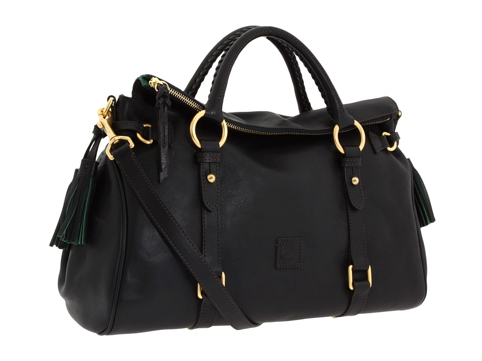 Dooney & Bourke - Florentine Vachetta Satchel (Black/Black Trim) Handbags