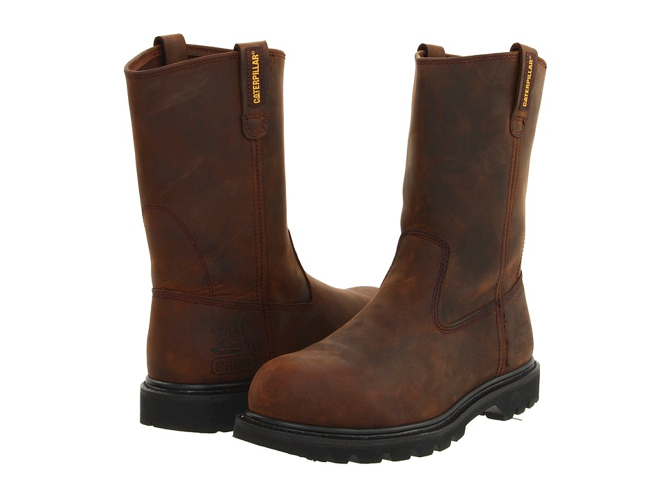 Caterpillar - Revolver Steel Toe (Dark Brown) Mens Work Pull-on Boots