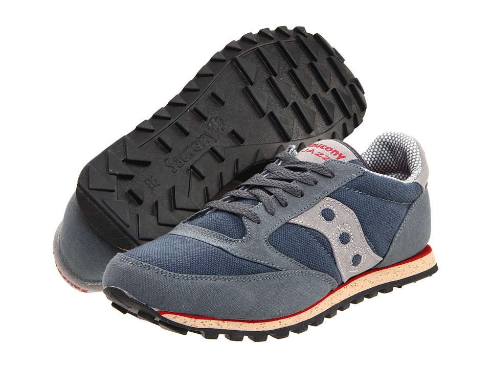 Saucony Originals - Jazz Low Pro Vegan (Grey/Red) Men