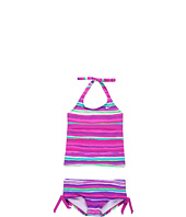 Nike Kids - Tie Dye Stripe Scoop Halter Tankini (Big Kids)