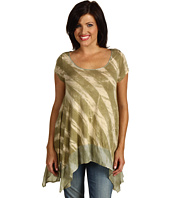 Green Dragon - Stripe Silk Border Tunic