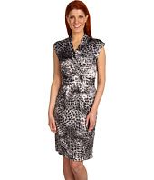 Jones New York - V-Neck Faux Wrap Dress