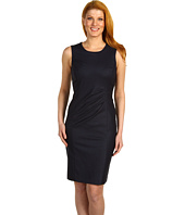 Jones New York - S/L Scoop Neck Faux Wrap Dress