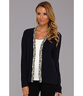 Jones New York - L/S Beaded V-Neck Cardigan