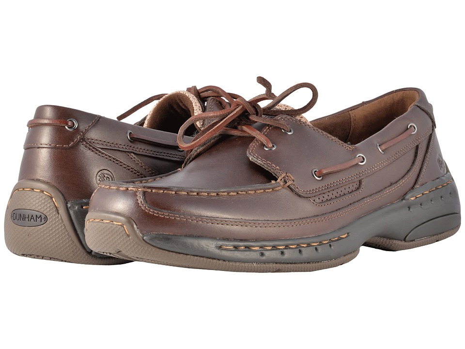 Dunham Shoreline (Brown Leather) Men's Slip on  Shoes