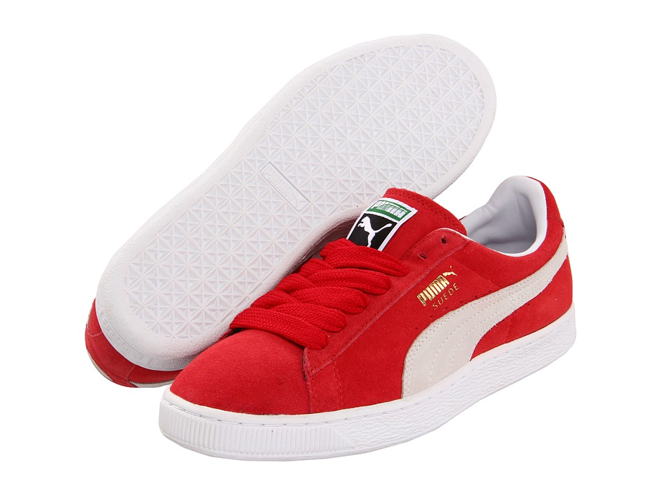 PUMA - Suede Classic (Team Regal Red/White) Shoes