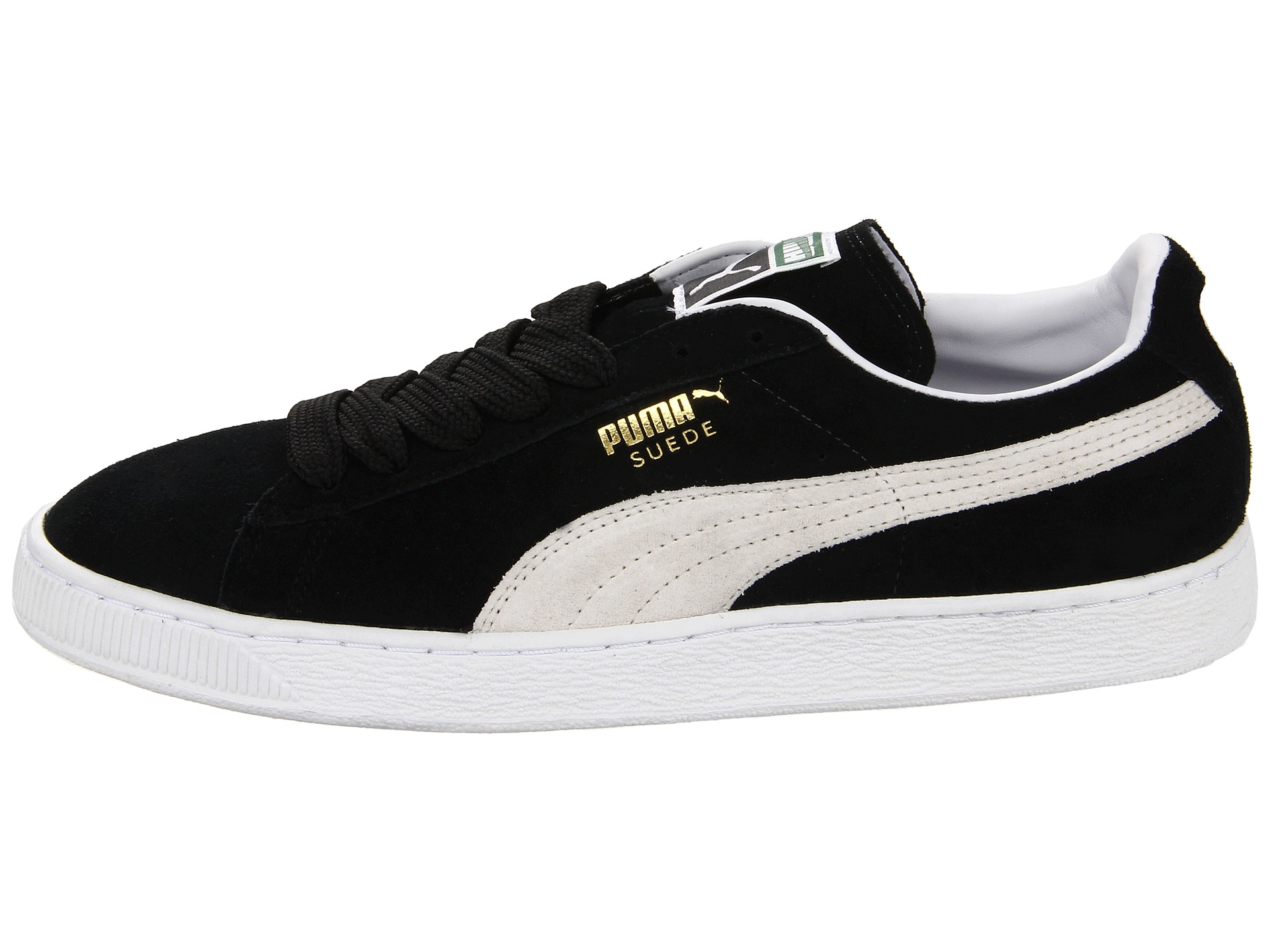 puma suede classic black white free shipping. Black Bedroom Furniture Sets. Home Design Ideas