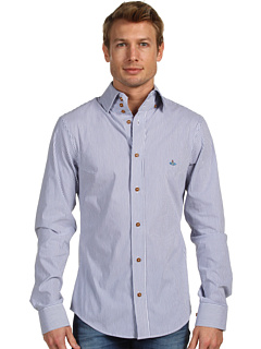 Vivienne Westwood MAN Tryathlon Stretch Stripe Shirt at Couture.Zappos.com