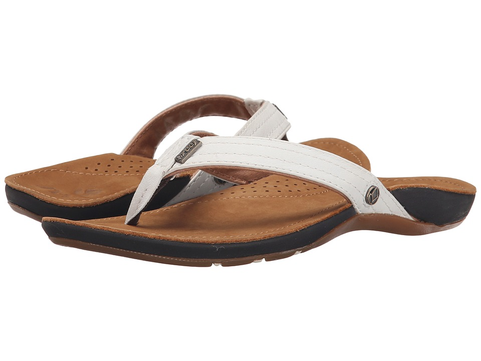 Reef - Miss J-Bay (Tan/White) Womens Sandals
