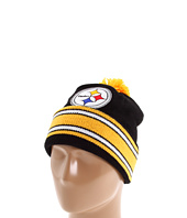 Mitchell & Ness - Pittsburgh Steelers Jersey Stripe Cuffed-Knit Beanie w/Pom Pom