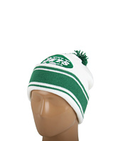 Mitchell & Ness - New York Jets Jersey Stripe Cuffed-Knit Beanie w/Pom Pom