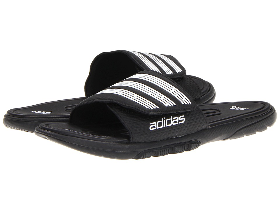 adidas - adilight SUPERCLOUD Slide (Black/White) Men's Shoes