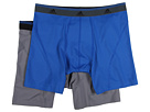 adidas Sport Performance ClimaLite 2-Pack Boxer Brief (Master Blue/Thunder)