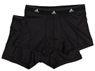 adidas - Sport Performance ClimaLite 2-Pack Trunk (Black/Black)