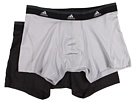 adidas - Sport Performance ClimaLite 2-Pack Trunk (Aluminum 2/Black) - Apparel