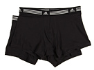adidas - Athletic Stretch 2-Pack Trunk (Black/Black) - Apparel